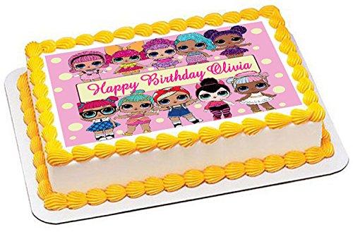 Lol Suprise Dolls (Nr2) - Edible Cake Topper - 10'' x 16'' (1/2 sheet) rectangular by Edible Prints On Cake (Image #1)