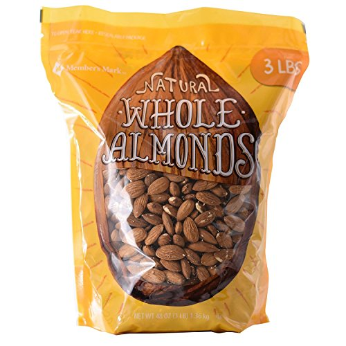 Member Mark Natural Whole Almonds, 3 Pound by Berkley and Jensen