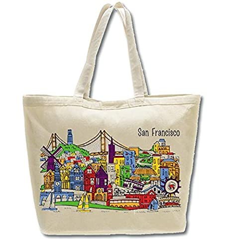 517a9cf20121 Amazon.com  San Francisco Whimsy Beach Bag   Oversized Tote - A ...