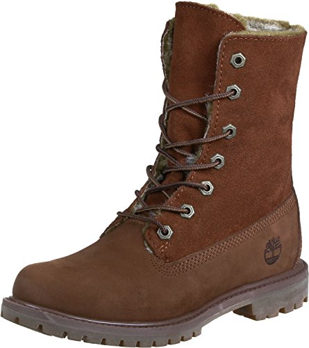 Timberland Faux fur Fold Down Medium Brown Nubuck CA19D2, Boots Braun (Cognac)