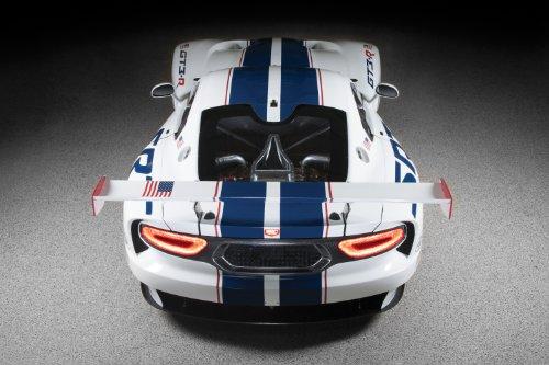"Dodge SRT Viper GT3-R (2013) Car Art Poster Print on 10 mil Archival Satin White Rear Side View 20""x15"""