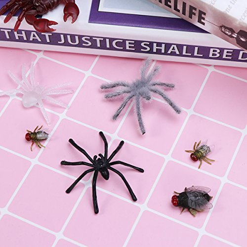 Festive & Party Supplies 44pcs Simulation Plastic Bugs Fake Spiders Scorpion Flies Bat For Halloween Party Favors Decoration Clients First