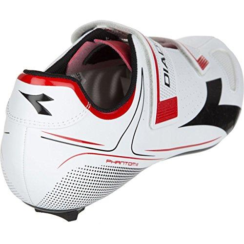 Diadora Phantom II Shoes - Men's White/Red/Black, 40.0