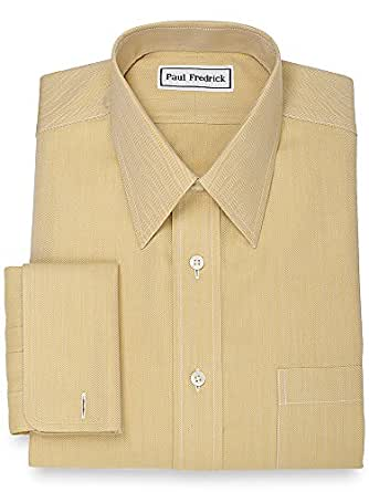 paul fredrick men 39 s non iron straight collar french cuff