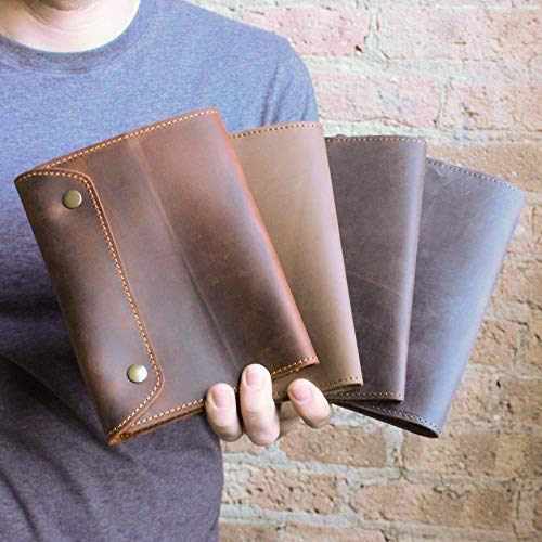 Pegai Personalized Leather Journal, Custom Handmade Distressed Cowhide Leather Traveler