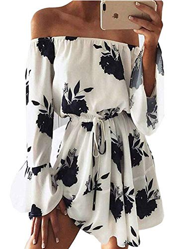 (Cheryl Bull Fashion Floral Deep V-Neck Wrap Dress Women Sundress Casual Beach Dress Short Robe Femme,Choosesizeulike,Floral-Black)