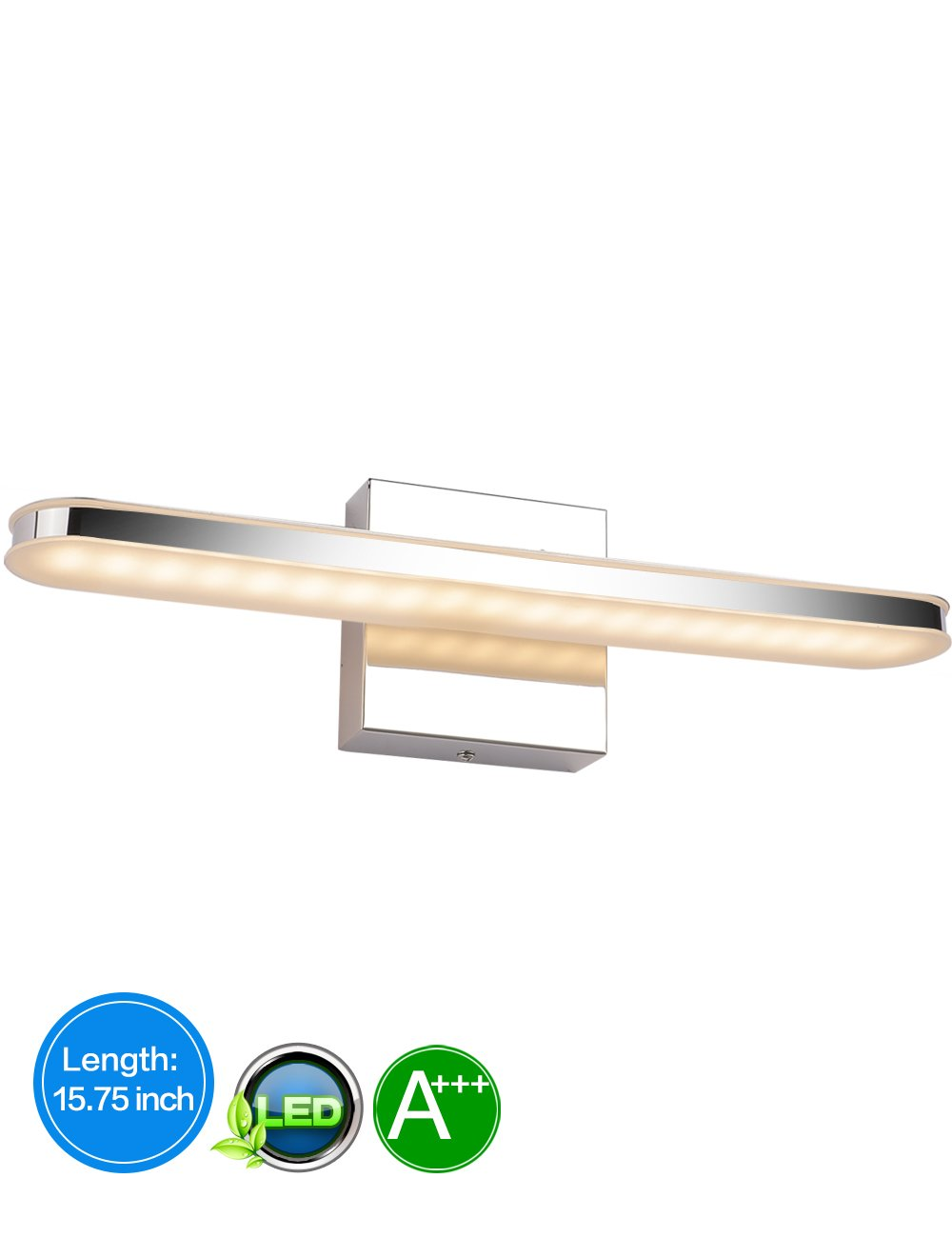 LED Bathroom Vanity Lighting Fixtures Long Shade Stainless Steel Bath Mirror Lamps WaLL Lights