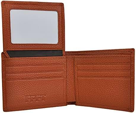 FPFT - RFID Security Men's Wallet Top Grain Leather - Black or Brown