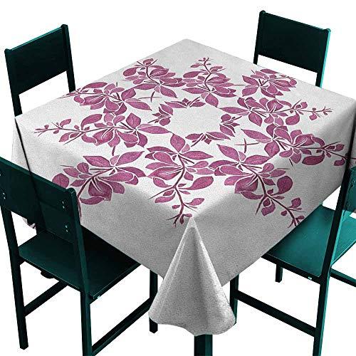 Sunnyhome Resistant Table Cover Purple Autumn Vine Bridal