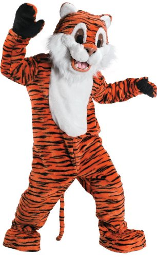 Rubie's Costume Tiger Mascot Costume, Orange, One Size (Tiger Costume Adults)