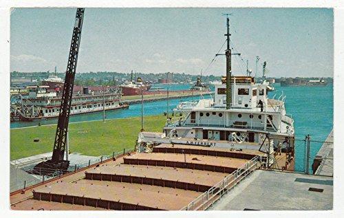 Sault Ste. Marie - World Famous Soo Locks, Michigan Vintage Original Postcard #2715 - 1960's