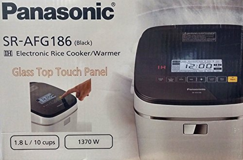 PANASONIC SR-AFG186 Electronic Rice Cooker/Warmer (1.8L/10 Cup) 1370W (COLOR BLACK)