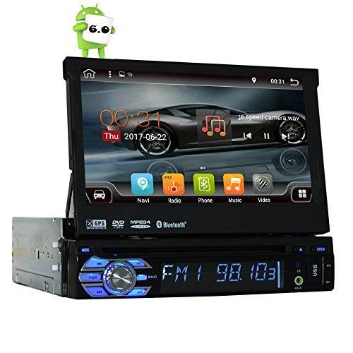 Quad-core Android 6.0 Single 1 Din 7″ Universal Touch screen Car DVD Player Autoradio With GPS Navi Bluetooth Auto radio Stereo Car Audio BT USB SD WIFI 2G RAM + 16G ROM FREE MAP
