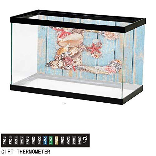 Jinguizi Letter EAquarium BackgroundStylized E Font Different Lively Seashells Exotic Underwater Life72 L X 24