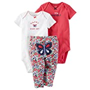 Carter's Baby Girls Take Me Away 3-Piece Little Character Set -3 Months -Happy Butterfly
