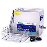 Large Ultrasonic Gun Cleaner Heated - DK SONIC 10L 240W Ultrasonic Jewelry Cleaner with Heater Basket for Parts Record Dental Eyeglass Ring Carburetor Fuel Injector Glasses Circuit Board 40KHz