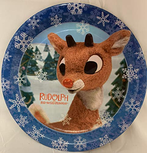 Rudolph The Red Nosed Reindeer Plates. 8-3/4