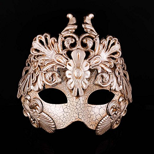 Greek Goddess Venetian Masquerade Halloween Party Mask (Silver Crown God)]()