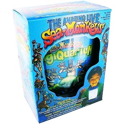 Live SEA MONKEYS Magiquarium Eggs/Food kit Magic aquarium Glow in the Dark Tank For Ages 6+