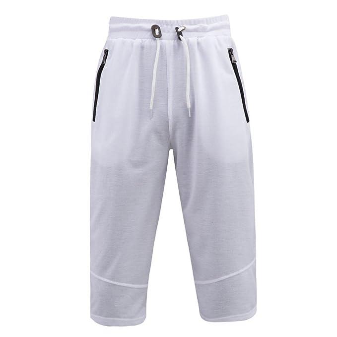 ����Hombre Pantalón Pantalones Deportivos Pantalones Cortos Atléticos con Cremallera Sólida Para Hombre Xinantime LsrP2ZxCX