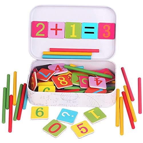 XuBa Baby Math Toy !!! Stick de Madera Matem\u00e1ticas Puzzle Ni\u00f1os Educaci\u00f3n temprana N\u00famero de Juguetes...