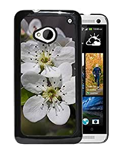 New Custom Designed Cover Case For HTC ONE M7 With Pear Blossoms Flower Mobile Wallpaper 4 Phone Case