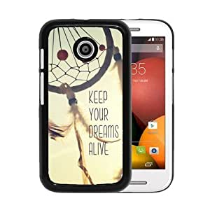 RCGrafix Brand Keep Your Dreams Alive Quote Motorola Moto E Cell Phone Protective Cover Case - Fits Motorola Moto E