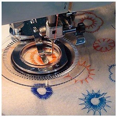 Pie Prensatelas de Maquina de Coser - TOOGOO(R) Plata Pie Prensatelas de Maquina de Coser Flor del Acero Inoxidable para El Hermano, Babylock, Viking, ...