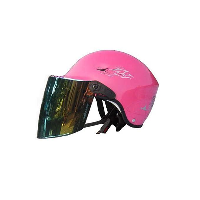 Casco De Peso Ligero Para Ciclismo De Seguridad: Casco De Bicicleta Para Adultos Con Visera Y Forro Desmontables De Tamaño Mediano (54-62 Cm),Pink-54~62cm: ...