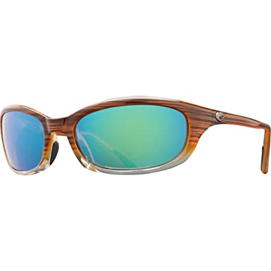 9d40a61bee2 Amazon.com  Costa Del Mar Sunglasses - Harpoon- Glass   Frame  Wood Fade  Lens  Polarized Green Mirror Wave 400 Glass  Shoes