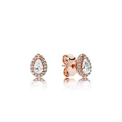 3dce3c0eb Image Unavailable. Image not available for. Color: Pandora Rose Radiant  Teardrops Stud Earrings 286252CZ