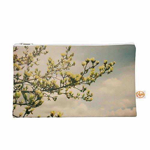 Kess eigene 12,5x 21,6cm Angie Turner Gelb Magnolien Alles Tasche–Blau