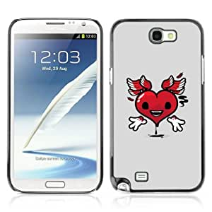 Designer Depo Hard Protection Case for Samsung Galaxy Note 2 N7100 / Heart