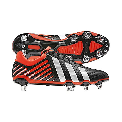 Adidas adiPower Kakari SG Wide Fit Rugby Stivali, Black, 8 UK