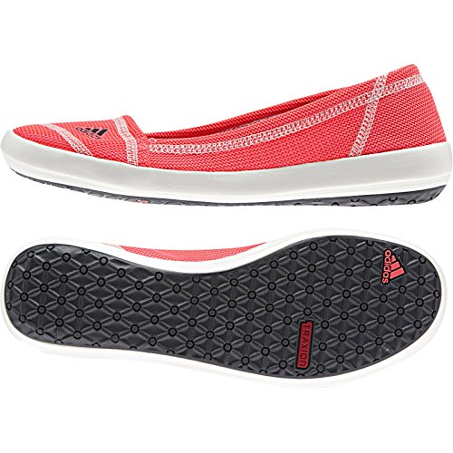 adidas Outdoor Damen Slip-On Slim Water Shoe Flash Rot / Dunkelgrau / Kreideweiß