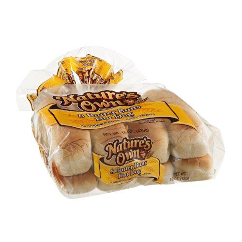 Natures Own, Hot Dog Butter Bun, 15 Ounce