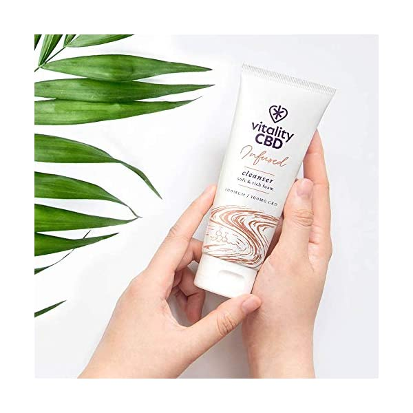 Vitality CBD Infused Cleanser, 100mg cannabidiol, 100ml