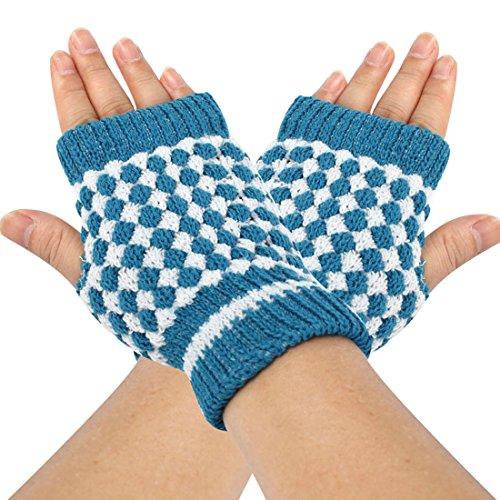 つづりボランティア親指uxcell 指なし 手袋 グローブ ニット ウォーマー フィンガーレスグローブ スマホ対応 暖かい 防寒