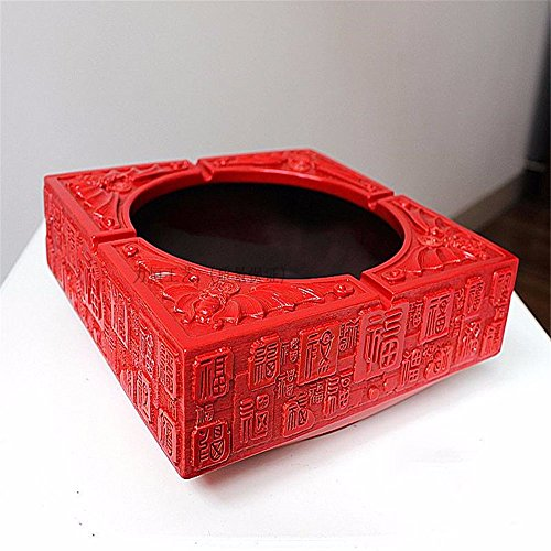 Antique Blessings Ashtray Ceramic Resin Creative Personality Fashion Living Room Crystal Glass Ashtray, Red 20 20 - Glass Blessings Bowl