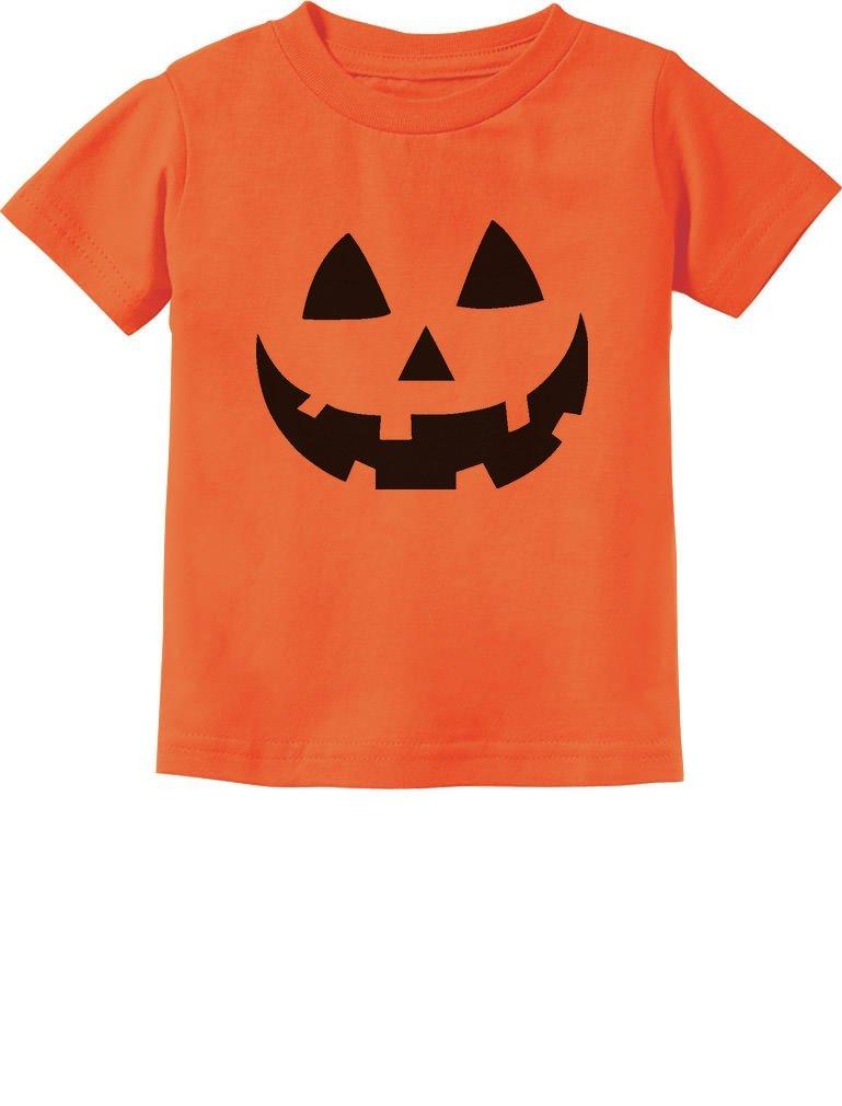 Jack O' Lantern Pumpkin Face Halloween Costume Toddler/Infant Kids T-Shirt GhPhMtMgm5
