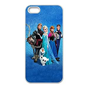 Frozen Cartoon iPhone5s Cell Phone Case White TPU Phone Case SV_273138