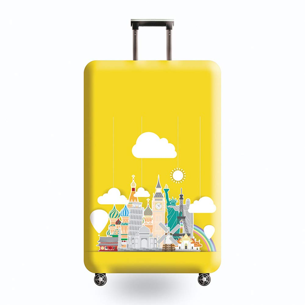 LDIW Travel Luggage Cover Trolley Case Protective Cover Elastic Travel Suitcase Protector Fits 18-32 Inch Luggage,#004,L