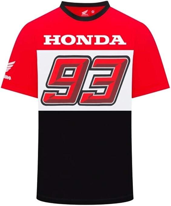 2019 Marc Marquez MotoGP Mens 93 T-Shirt White Photographic Words 100/% Cotton