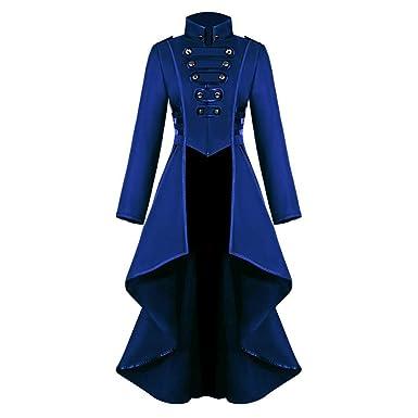 Moda Chaqueta Mujer Medieval Steampunk Gótico Abrigo de Otoño Tops ...