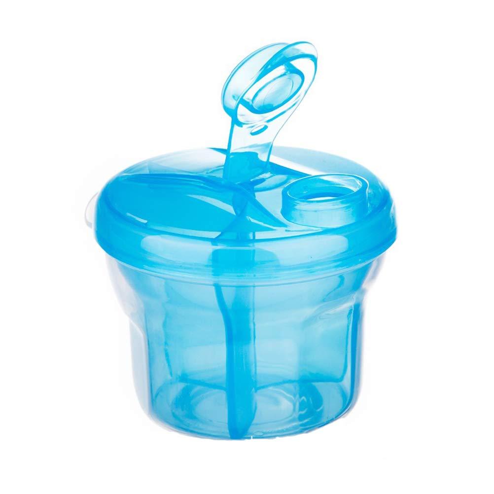 Sulida Boîte à lait en poudre rotative à trois grilles pour bébé Doseur de lait en poudre (Rose)