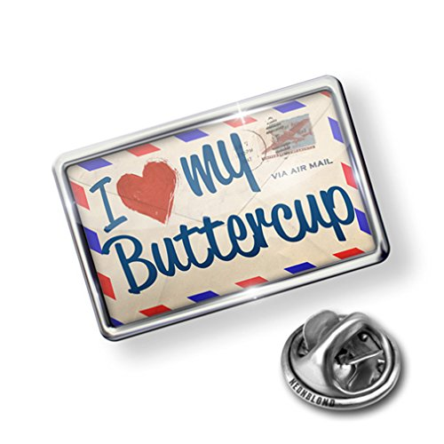 Atlanta Pin (Pin I Love my Buttercup, Vintage Letter - Lapel Badge - NEONBLOND)