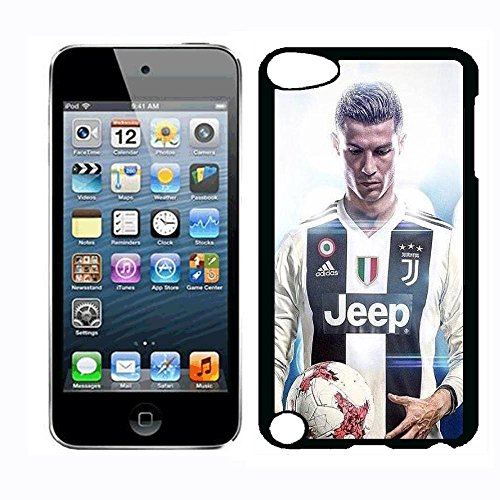 (Cristiano Ronaldo in Juventus Portugal Team Ronaldo Fans Italian Serie A Case for iPod Touch 5th iPod Touch 6th,PC Material Hard Case Never Fade)