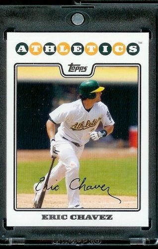 Topps 2008#629 Eric Chavez Oakland athlétisme de Baseball MLB Carte de négociation à visser