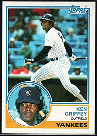 261e6b3f94 Amazon.com: Baseball MLB 1983 Topps #110 Ken Griffey Sr. Yankees ...