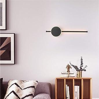 Lámpara de pared de tira LED escalera espada lámpara de pasillo lámpara de noche dormitorio,luz neutra negra,13W/40cm: Amazon.es: Iluminación